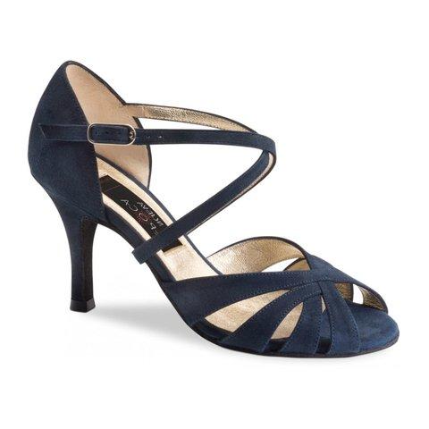 Dansschoenen Gracia Donkerblauw Suède 7 cm