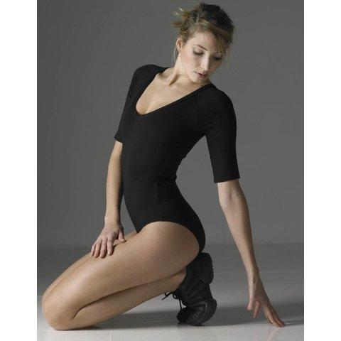 Maddy balletpak elleboog lengte viscose zwart