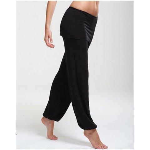 Baby bamboe broek met rokje  zwart