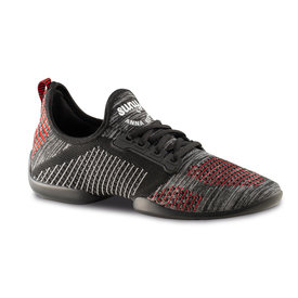 Anna Kern 4015 - Lage dance sneaker - Pureflex - Knit black / grey / red / white