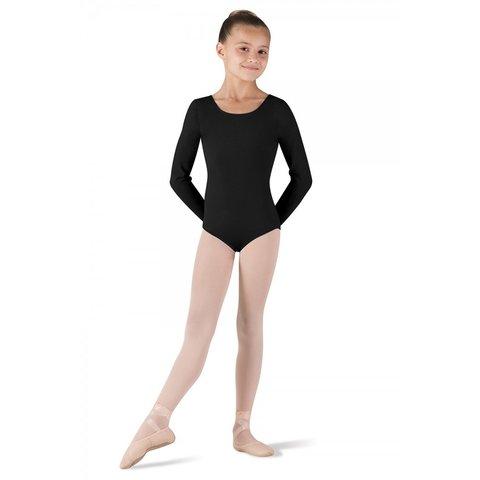 CL5409 Petit balletpakje met lange mouw zwart