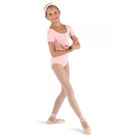 Bloch CL5402 Klassiek balletpakje korte mouw roze/ light pink