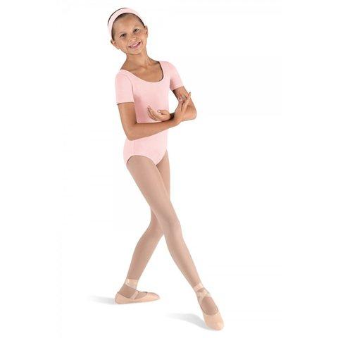 CL5402 Ballet Klassiek balletpakje korte mouw roze / light pink