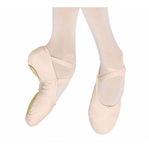 Bloch since 1932 S0277L Pump canvas Gespleten zool Balletschoen Pink