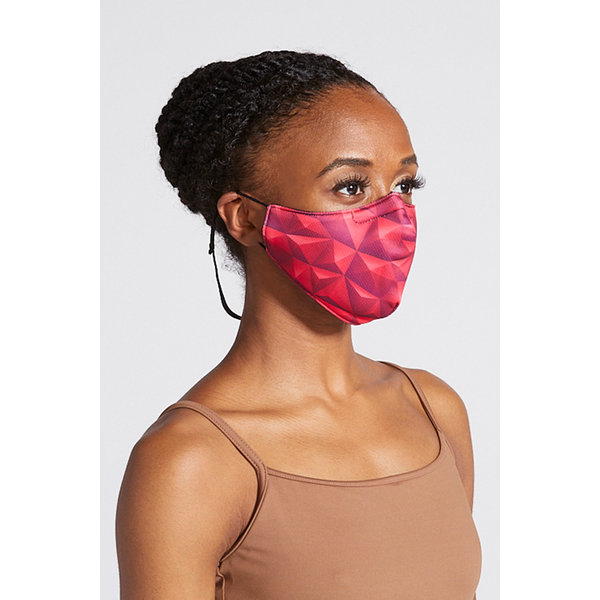 Bloch since 1932 BLOCH B-Safe Adult Print Lanyard Face Mask A005A Polygons