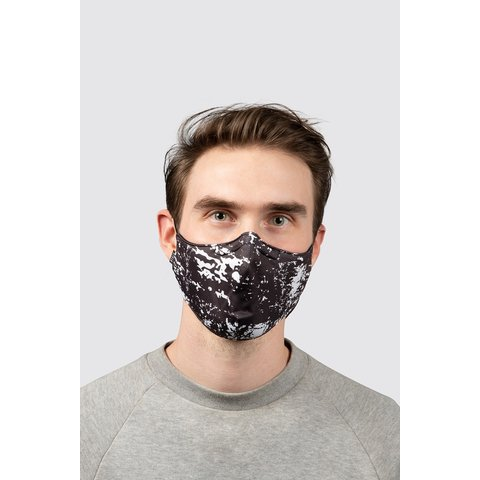 BLOCH B-Safe Adult Print Lanyard Face Mask A005A  Black and White Print