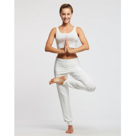 Temps Danse Alto Dans en Yoga Broek Brede Band Viscose  Wit