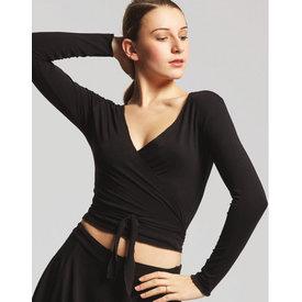 Temps Danse Vigueur Yoga Ballet Wikkelvest Viscose Zwart
