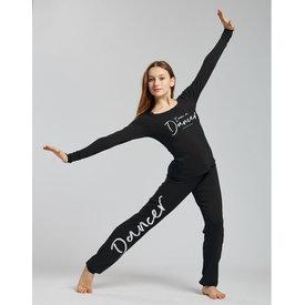 Temps Danse Unisex Affetto I m a Dancer Logo Dansbroek Trekkoord  Zwart/Wit