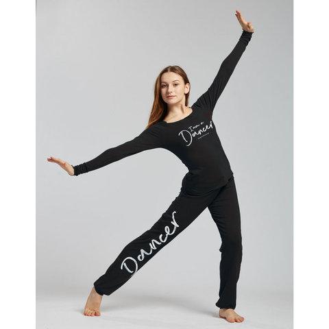 Unisex Affetto I m a Dancer Logo Dansbroek Trekkoord  Zwart/Wit