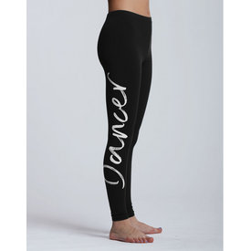 Temps Danse Adalie I Am Dancer Logo Legging Zwart