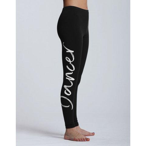 Adalie I Am Dancer Logo Legging Zwart