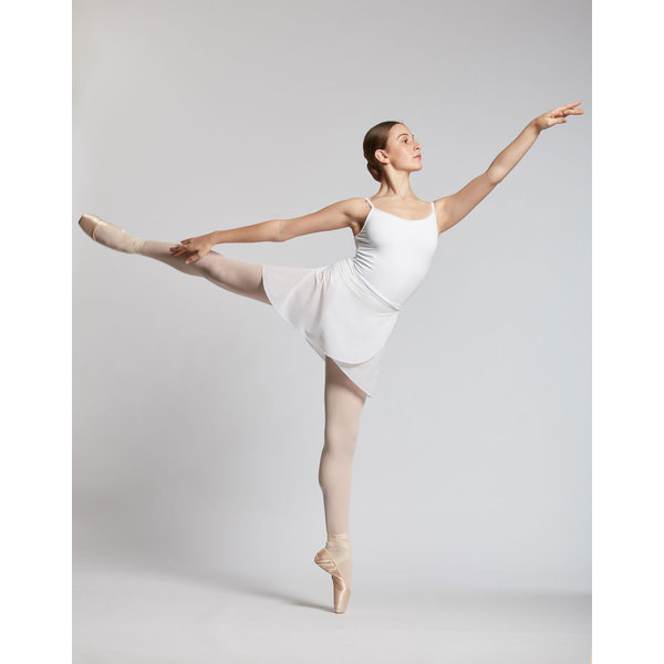 Temps Danse Juliette stretch voile rokje (01) Wit