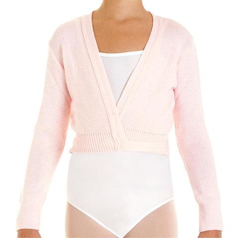 6000 Ballet wikkelvestje van 100% acryl roze