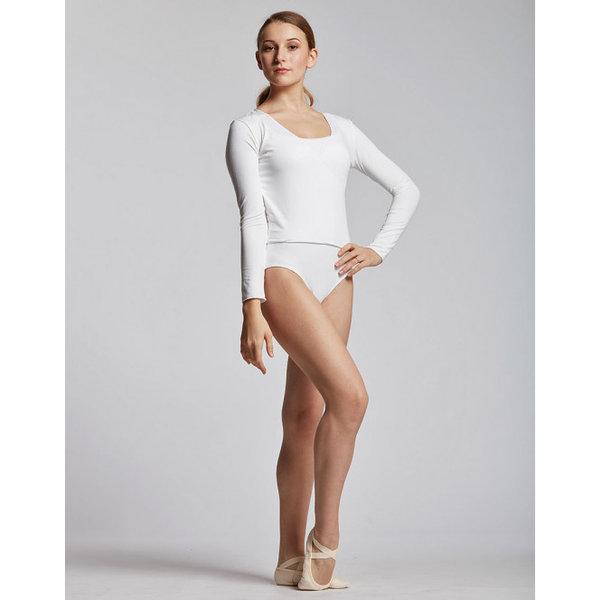 Temps Danse Vidy Yoga Ballet Overslagtop Viscose Wit