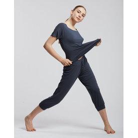 Temps Danse Bakara driekwart broek bamboe staalblauw / ardoise