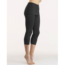 Temps Danse Balade Capri pants met lange tailleband bamboe zwart