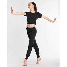 Temps Danse Alto Dans en Yoga Broek Brede Band  Viscose Zwart