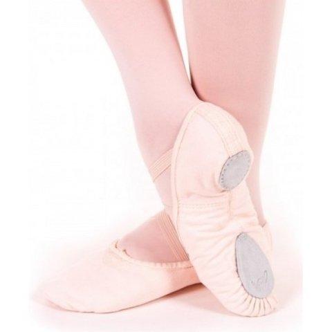 U2030 Canvas splitzool balletschoen Licht roze / Lpk