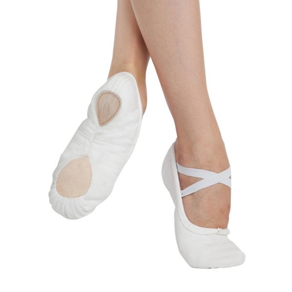 Capezio U2030 Canvas splitzool balletschoen wit