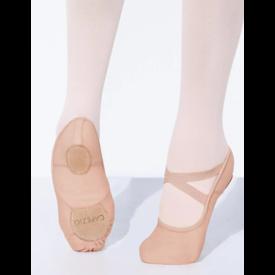 Capezio Hanami canvas 2037W  Stretch balletschoen Nude