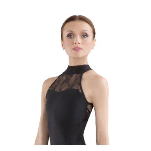 L6040 Ebo Halternek Balletpak met kant