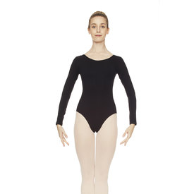 Intermezzo 3983 Balletpak Lange Mouw Hoge ronde hals Katoen Zwart