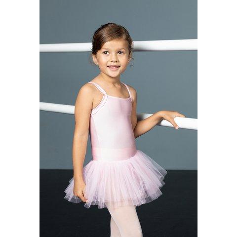 31586 Balletpakje  met tutu Lycra Roze