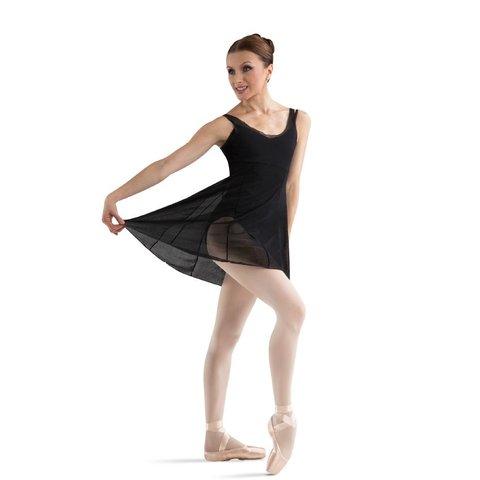 Z2917 Emerge Ballet Tansparant tuniek Jurkje Zwart