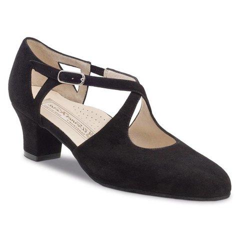 Dansschoenen - Gala- -Comfort voetbed - 4.5cm - Suede - Zwart