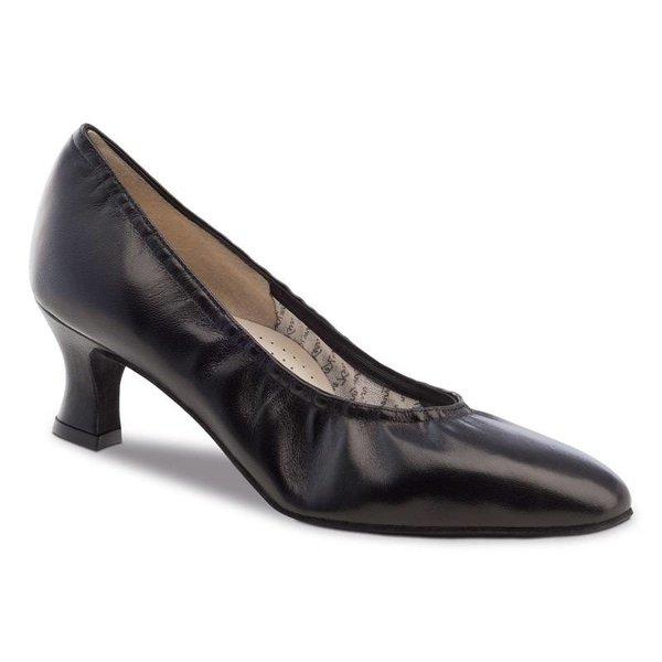Werner Kern Dansschoenen - Laura - Comfort voetbed - 5cm - Leer - Zwart