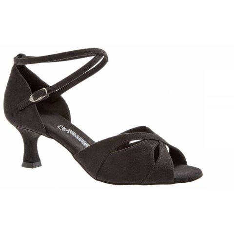 Dansschoenen 141-077-335 Zwart Microfiber 5cm