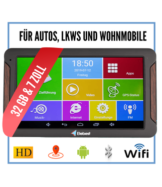 Elebest Pro A600 Android navigation device 7 inch Display