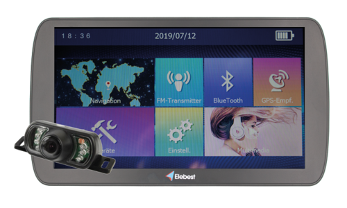 Navigation devices with rear view camera
