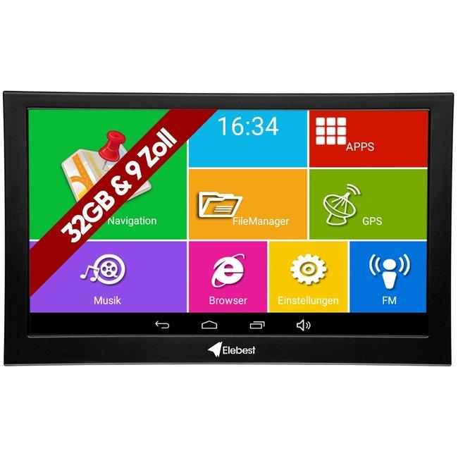 Elebest Pro A900 navigation device 9 inch Display