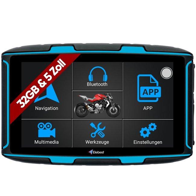 Elebest Rider A6 Pro Motorrad-Navi 5.0 Zoll Android