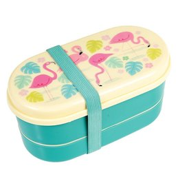 Rex London Bento lunch box - Flamingo Bay