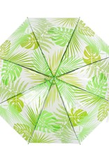 Esschert Design Paraplu - transparant - Jungle bladeren