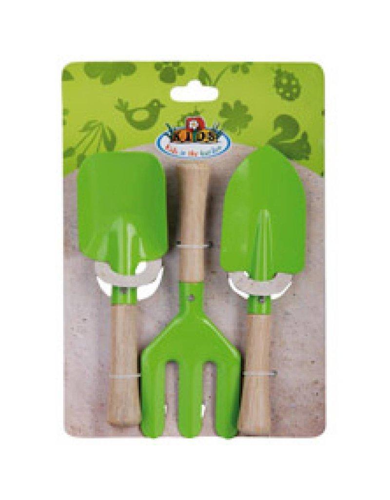 Esschert Design Kindertuingereedschap set - 3 delig - groen
