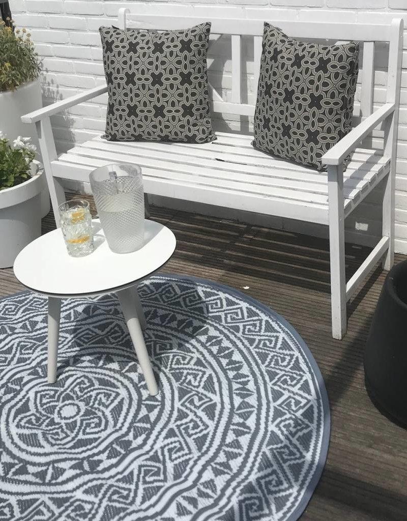 Evenaar Buitenkleed - rond - GRIJS / WIT