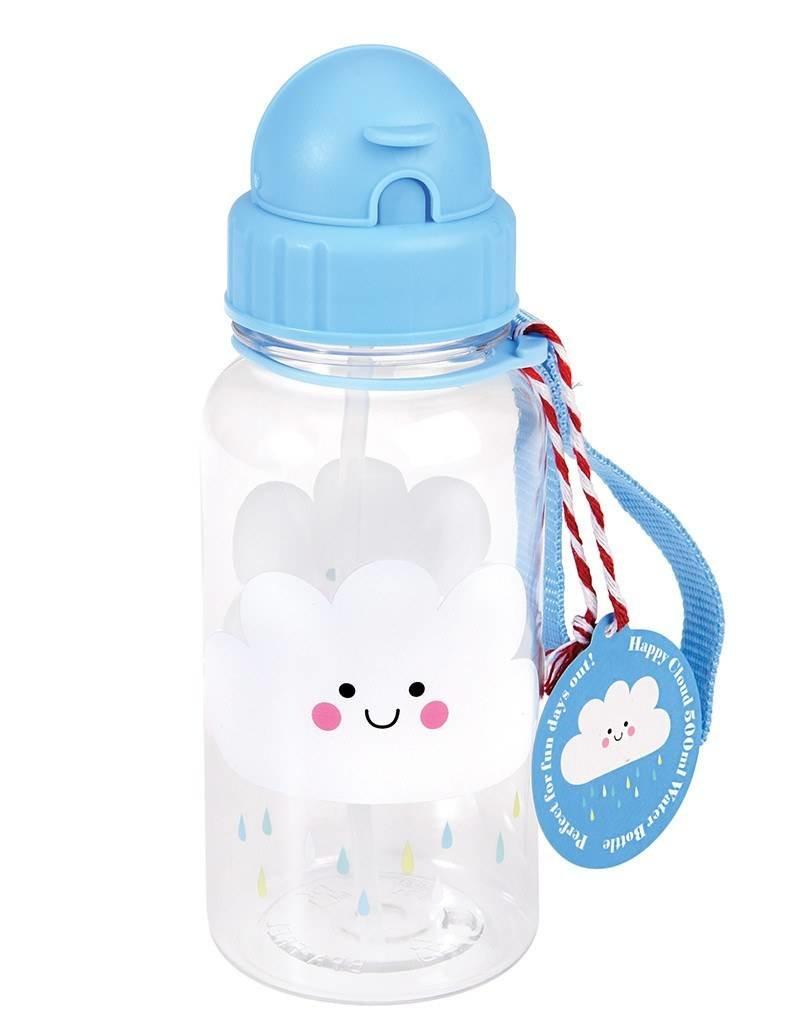 Rex London Kinder waterfles - Happy Cloud