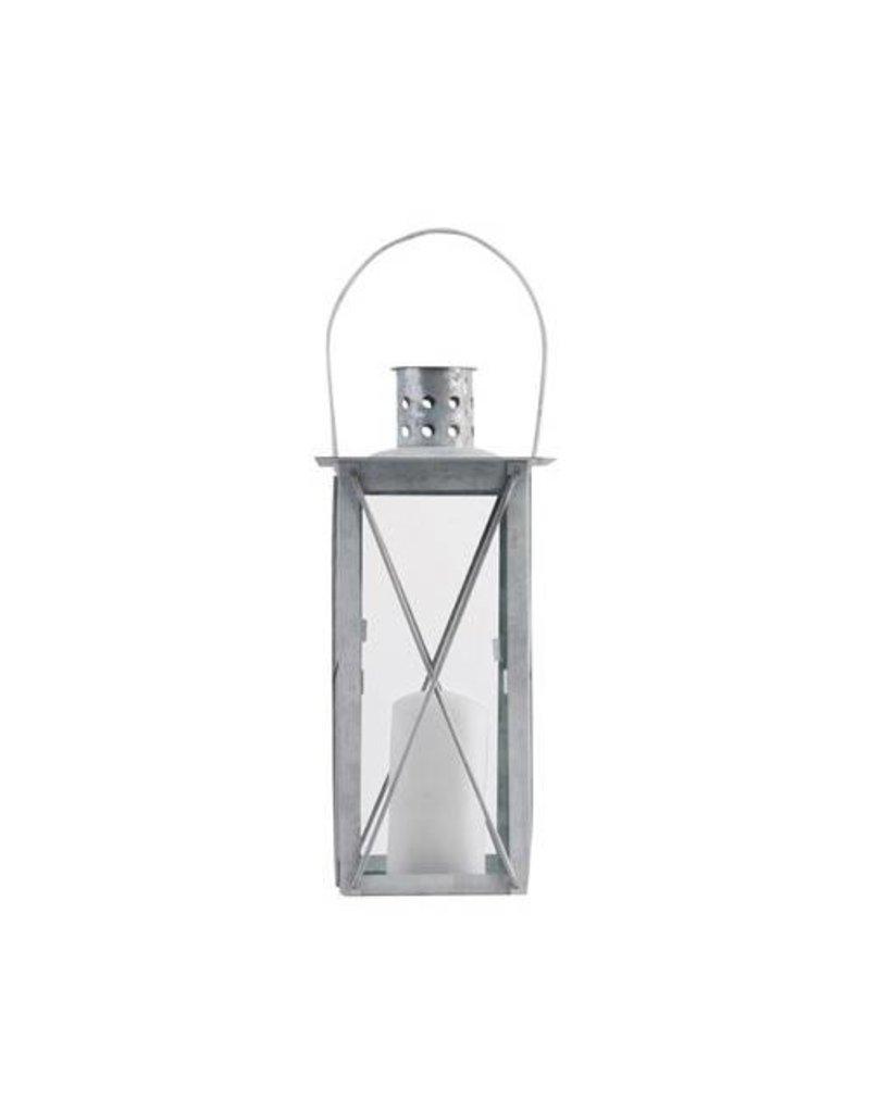Esschert Design Lantaarn - 25 cm - oud zink (S)