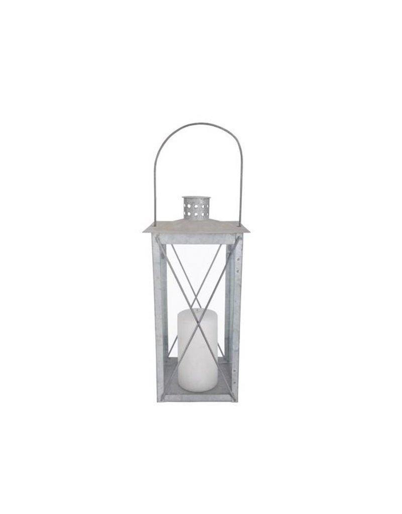 Esschert Design Lantaarn - 35 cm - oud zink (M)