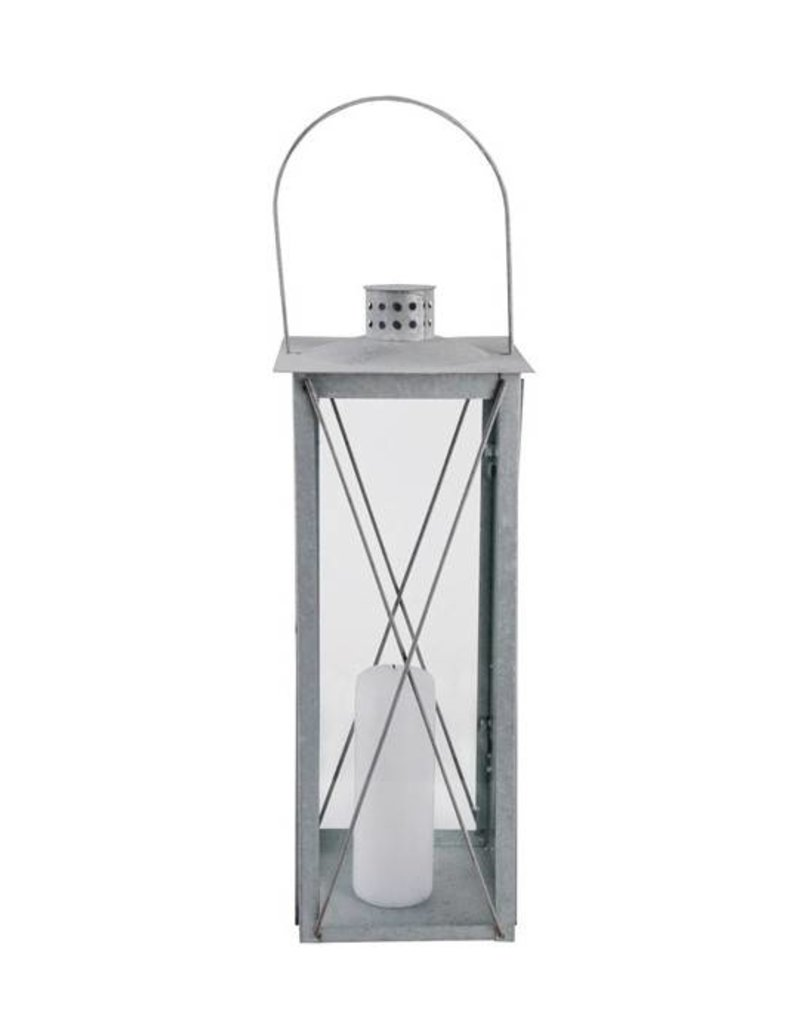 Esschert Design Lantaarn - 50 cm - oud zink (L)