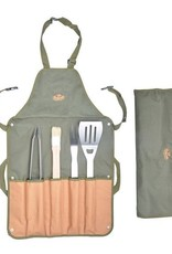 Esschert Design BBQ  schort met gereedschap