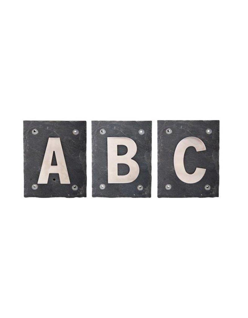 Esschert Design Huisletter RVS A B C arial