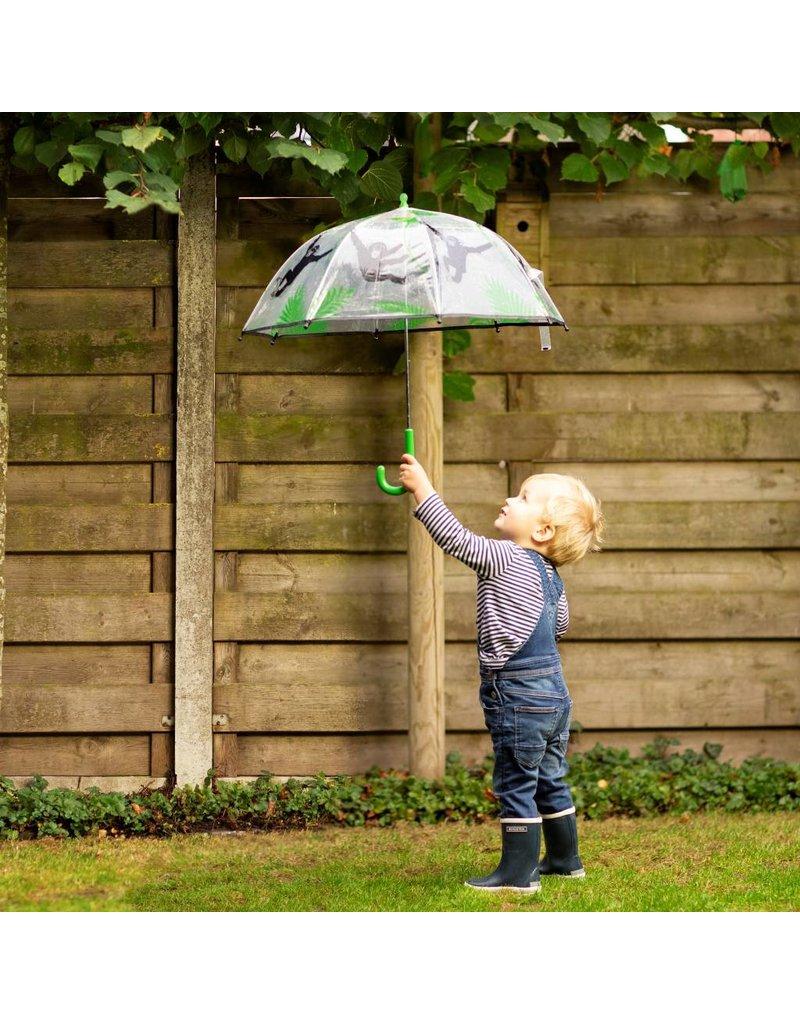 Esschert Design Kinderparaplu - doorzichtig - Aap