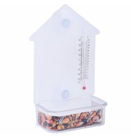 Esschert Design Raam voederhuis met thermometer