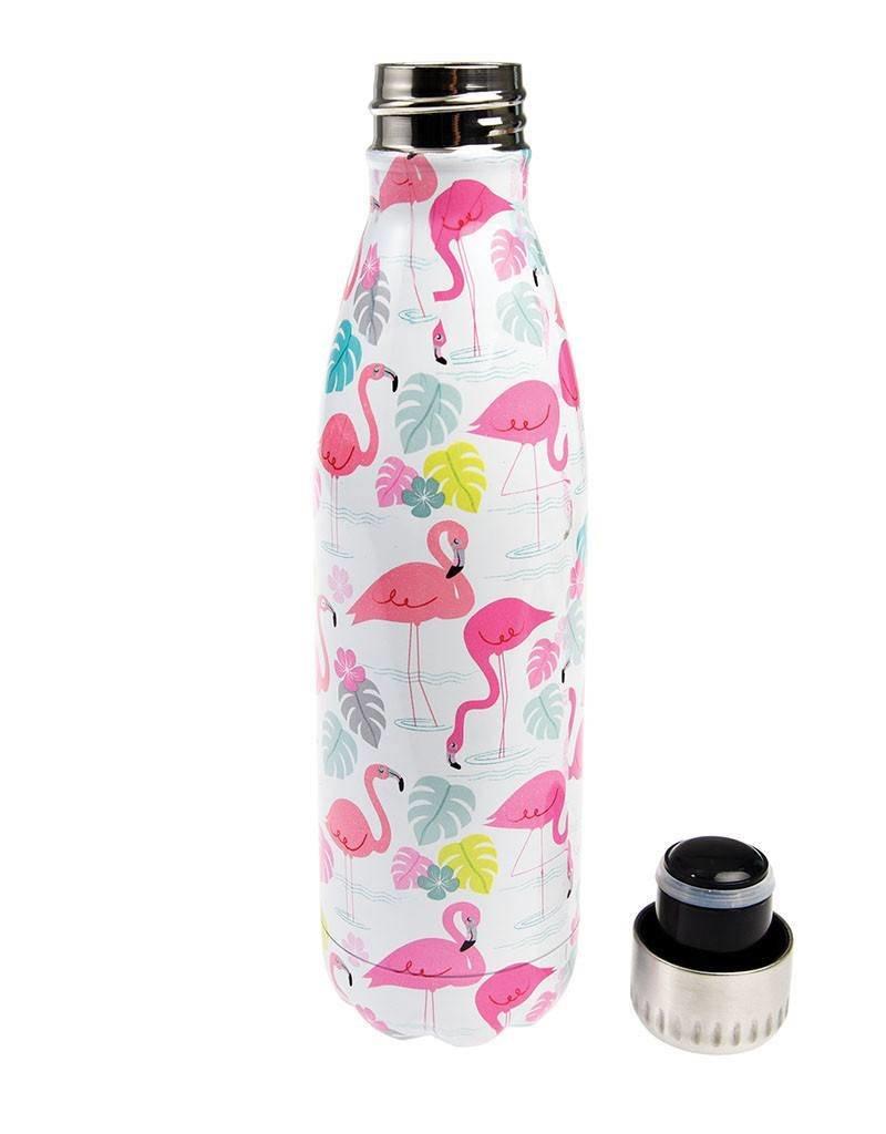 Rex London Roestvrij stalen fles - Flamingo Bay