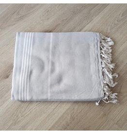 Lalay Hamam doek XL - Grijs met fijne strepen